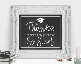 Graduation Gift, Graduation Card, Thanks For Making My Graduation So Sweet, Graduation Gift for Her, Graduation Gift for Him, Decorations