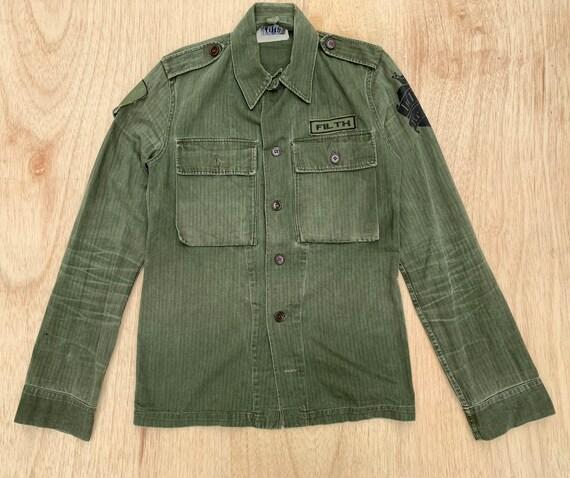 Vintage army jacket OG 107 60s vietnam war redesig