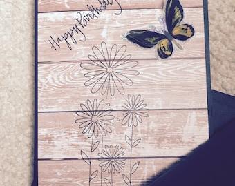 Happy birthday card, happy birthday,handmade,