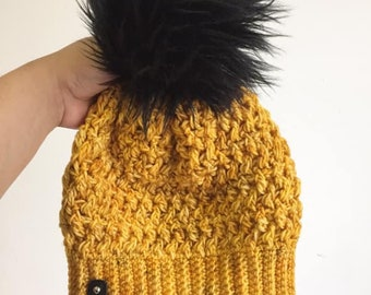 e1acd77c6 Items similar to Ponytail Hat Crochet Pattern, Spiked Punch Crochet ...