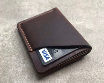 Personalized Pink Camo Genuine Leather Front Pocket Wallet
