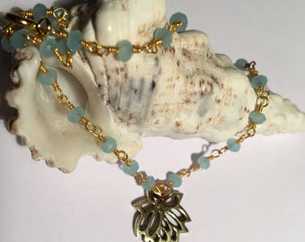 Peruvian chalcedony anklet