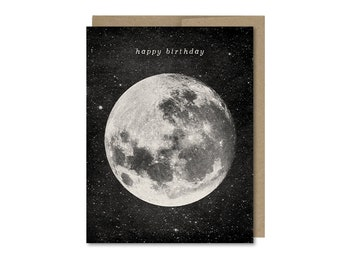 Moon Birthday Card • Gift For Friend • Space Birthday Card