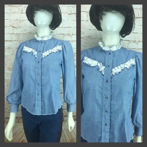 Girl's Vintage Western Shirt - Small Women's Weste