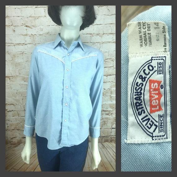 Vintage Levi's Western Shirt - RARE 70's Boy's Wes