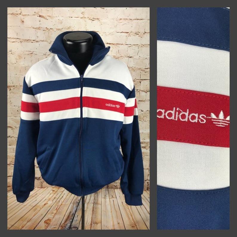 5892af227251 Vintage Adidas Track Jacket Large Red White and Blue