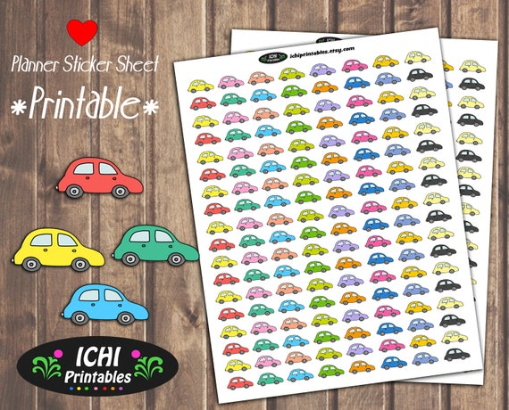 Car Printable Planner Stickers Car Stickers Travel Road
