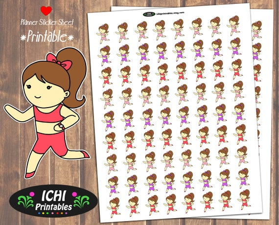 Running Printable Planner Stickers Jogging Planner Stickers