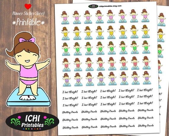 photo relating to Free Printable Functional Planner Stickers known as Fat Decline Printable Planner Stickers, Fat Decline Stickers
