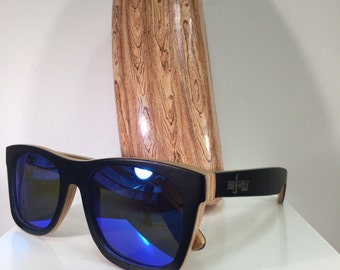 83d1767f6c Wayfarer Bamboo Handmade Wooden Sunglasses Womens Sunglasses Mens Sunglasses