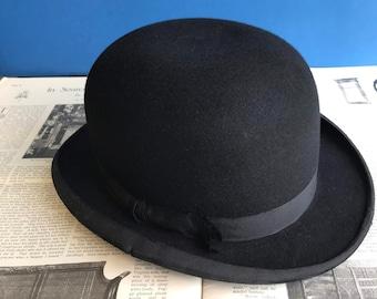 1ff80949937b4c Antique or Vintage Men's Bowler Hat, Dunlap, Browning, King & Co, New York,  British, Wool Felt, Silk, Leather, Gentleman, Style, Costume