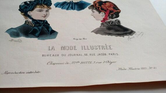 Grabado la mode illustrée paris comprar revistas y