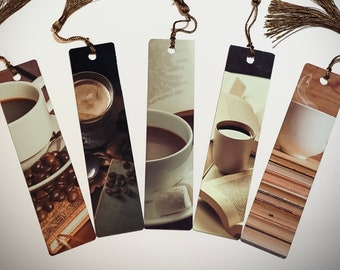 Coffee Bookmark   Metal Bookmark for Coffee Lover   Coffee Drinker Gift   Coffee and Books   Book Club   Booklover Gift   Aluminum Bookmark