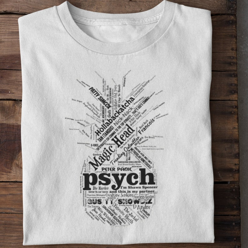 Psych Shirt  Gus Guster Psych TV Show Nicknames T Shirt  image 0