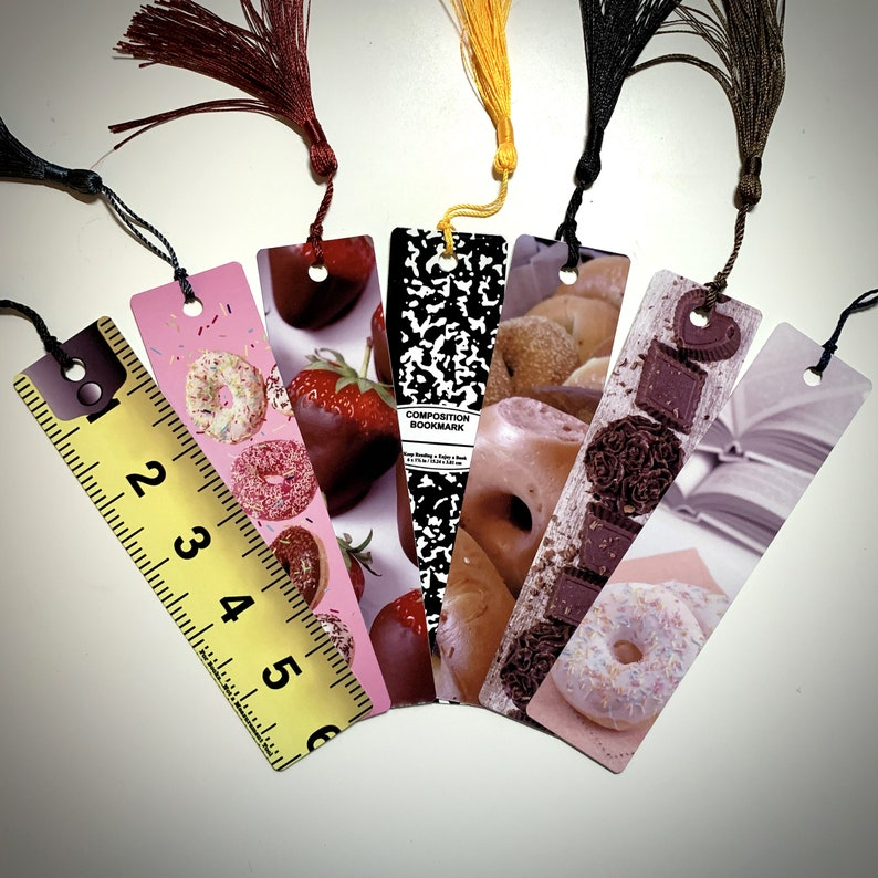Metal Bookmark  Bagels  Donuts  Chocolate  Tape Measure  image 0