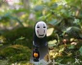 1pcs Spirited Away Characters Non-Face Man with Lamp Fairy Garden Supplies Succulent Terraium Accessories