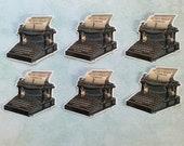 6 x Typewriter stickers. Vintage style. Retro. Steampunk. Snail mail hobonichi midori planner journal decorations. Ephemera.