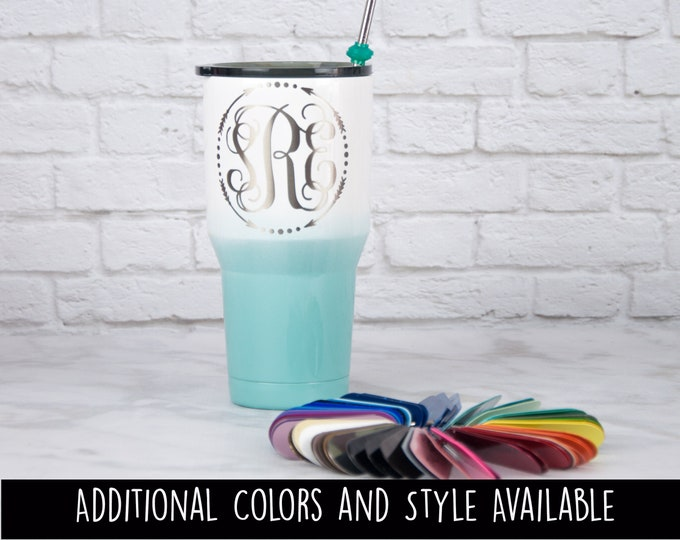 f6b5476dc22 Powder Coated Monogrammed Tumblers & Personalized Gifts