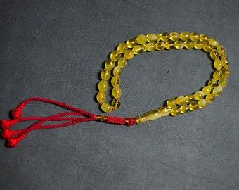Natural amber from Poland Rosary- Misbah-Tasbih- Islamic.
