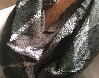 For the love of Olive!Olive plaid Most popular selling,Plaid Blanket Scarf,Triangle, Winter scarf,Cotton Blanket scarf