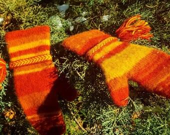 Winter viking mittens