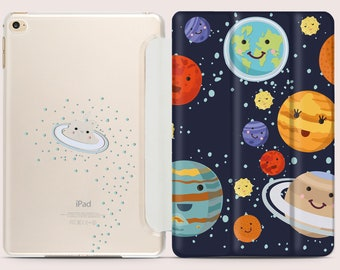 Solar System iPad Case Cute iPad Case iPad Air Case iPad mini Case iPad Pro 10.5 Case iPad 5 Case iPad Pro 12.9 Case iPad 9.7 Case CC5006
