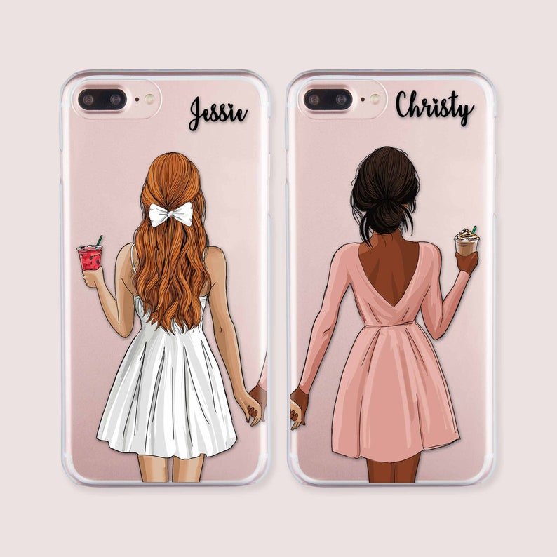 d54743171f Couple iPhone 7 Cover Custom iPhone XR Girls iPhone XS Hard | Etsy