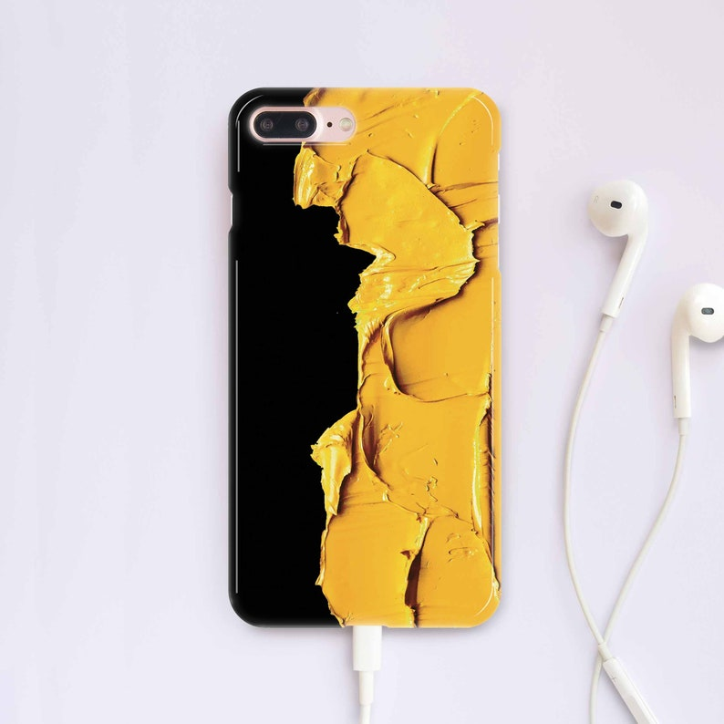 huge discount 1c075 22e3a Paints iPhone Case iPhone X Case iPhone 8 Case Yellow iPhone 8 Plus Case  Cute Case Gift Case for Samsung Note 8 Case Galaxy S8 Plus CC5014