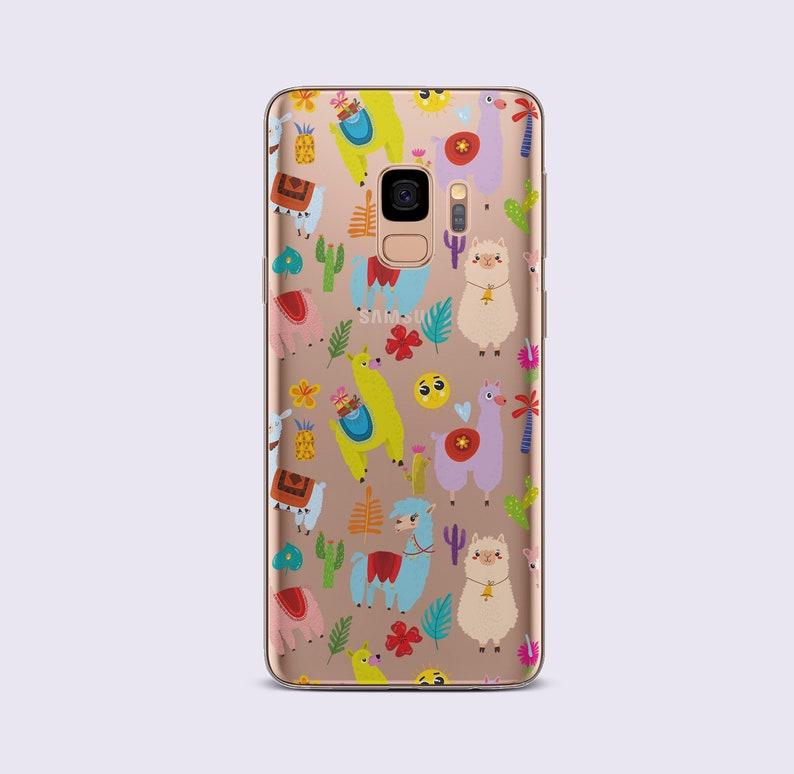 newest 4b014 db75e Cute Samsung S9 Plus Case Alpaca Phone Case for Samsung S10 Plus Case  Galaxy Note 7 Case Samsung S8 Clear Case Llama Gift Samsung S5 CC1374