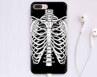 Skeleton Case Samsung Galaxy S8 Case iPhone 7 Case Bones iPhone X Case iPhone 6 Plus Case iPhone 8 Case Cover iPhone 7 Plus Case CC1201