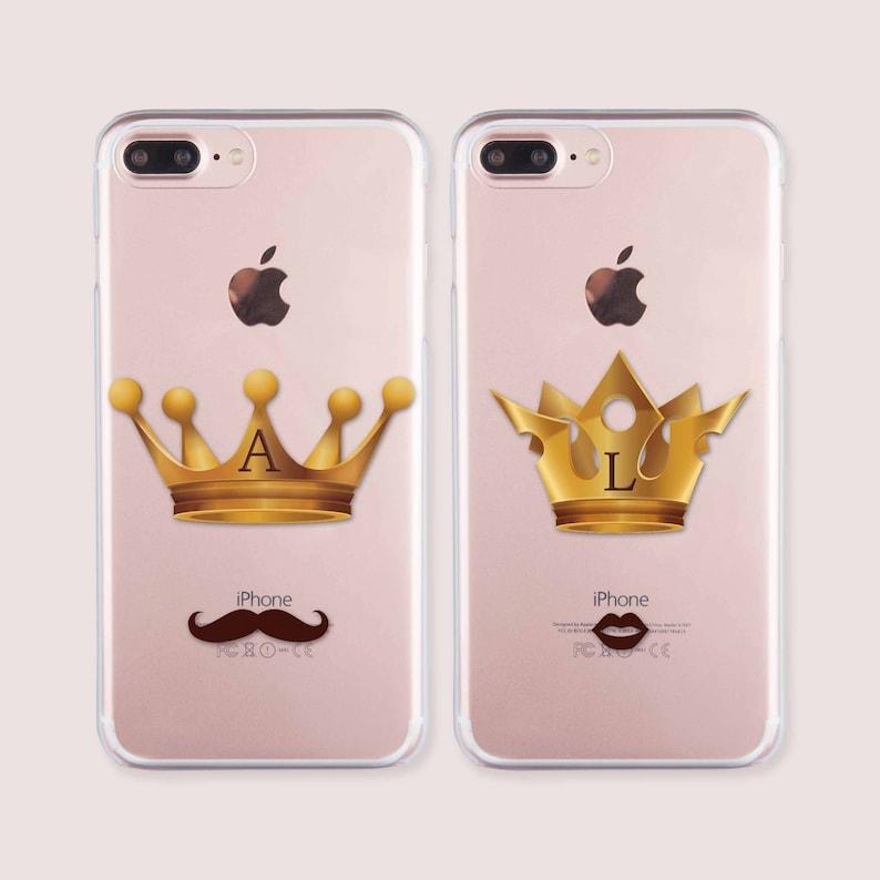 promo code 690d5 0dbb9 iPhone Couple Cases iPhone 5s Case iPhone 6 Case iPhone 8 Plus Case King  and Queen Double Phone Case iPhone 6s Case Samsung S8 Case CC1505