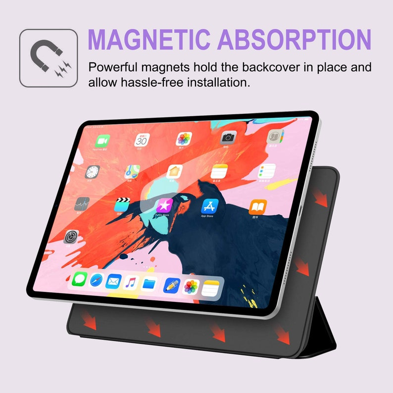 Unicorn iPad 11.4 2018 Case Donuts New Magnetic iPad Smart Folio Cute Animal Print iPad 12.9 2018 Smart Cover Colorful iPad 2018 Case CC1516