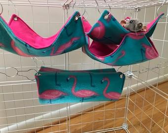 3 Rat Hammock Set. (rat bed, rat hammock, hammock set, sugar glider hammocks, double decker, tube hammock, flat hammock)
