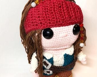Captain Jack Sparrow Crochet Pattern English and Dutch PDF
