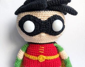 Robin from Batman Crochet Pattern English/Dutch