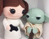 Yoda Leia discount package Crochet pattern Dutch and English PDF