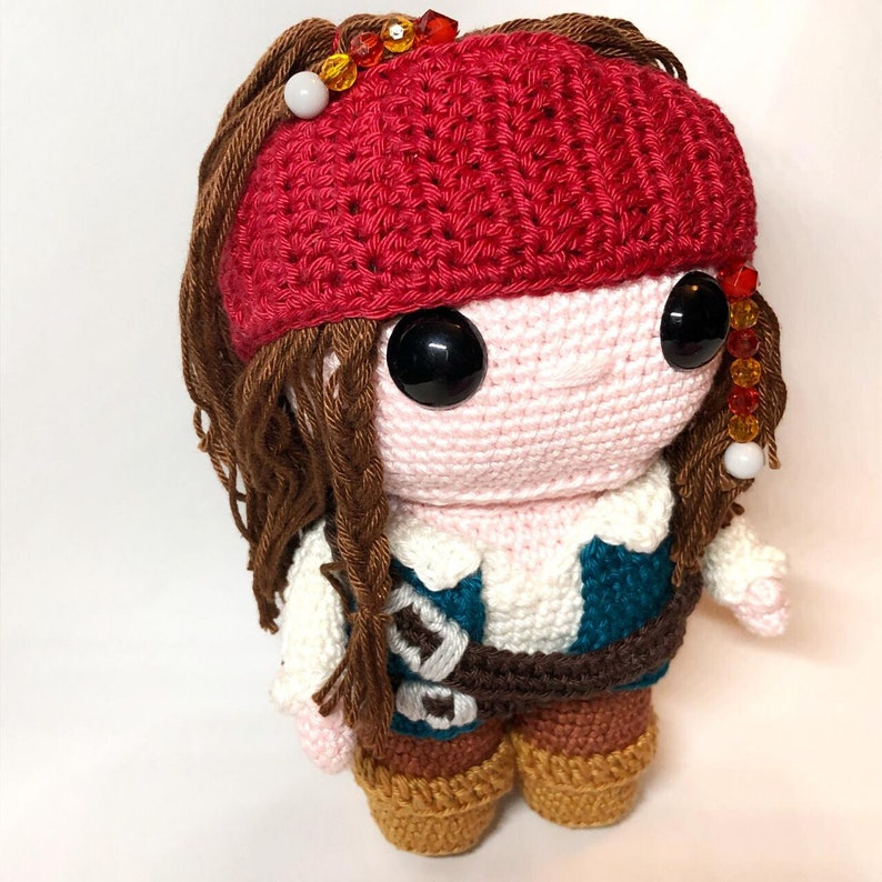 Captain Jack Sparrow Crochet Pattern English and Dutch PDF image 0