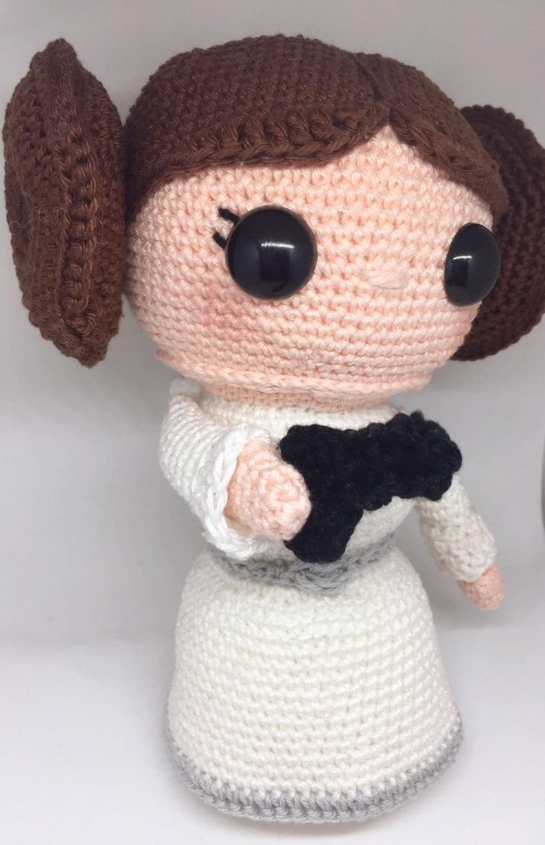 Princess Leia crochet pattern Dutch/English image 0