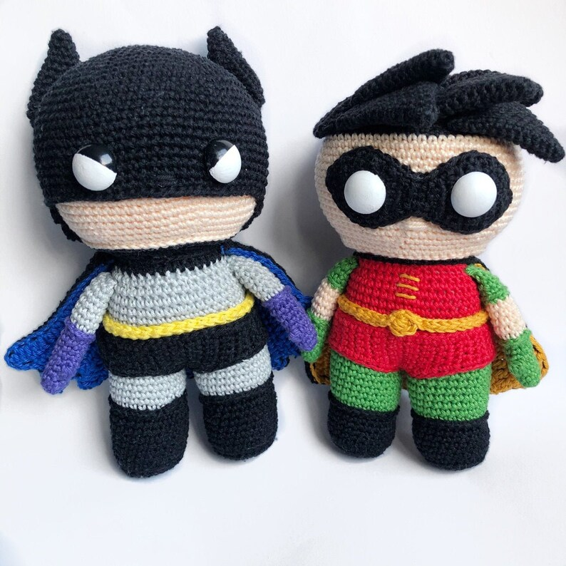 Batman and Robin Discount Package Crochet Pattern image 0