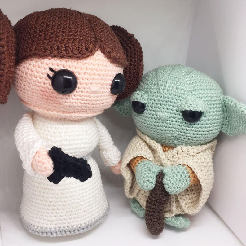 Yoda & Leia discount package Crochet pattern Dutch and English image 0