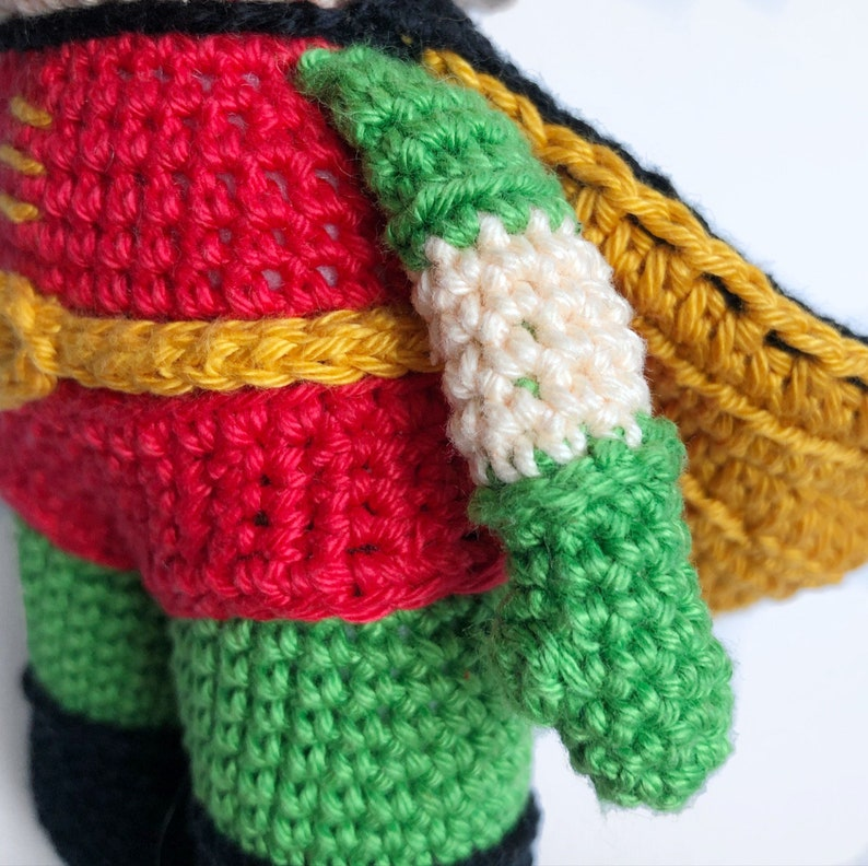 Robin from Batman Crochet Pattern EnglishDutch