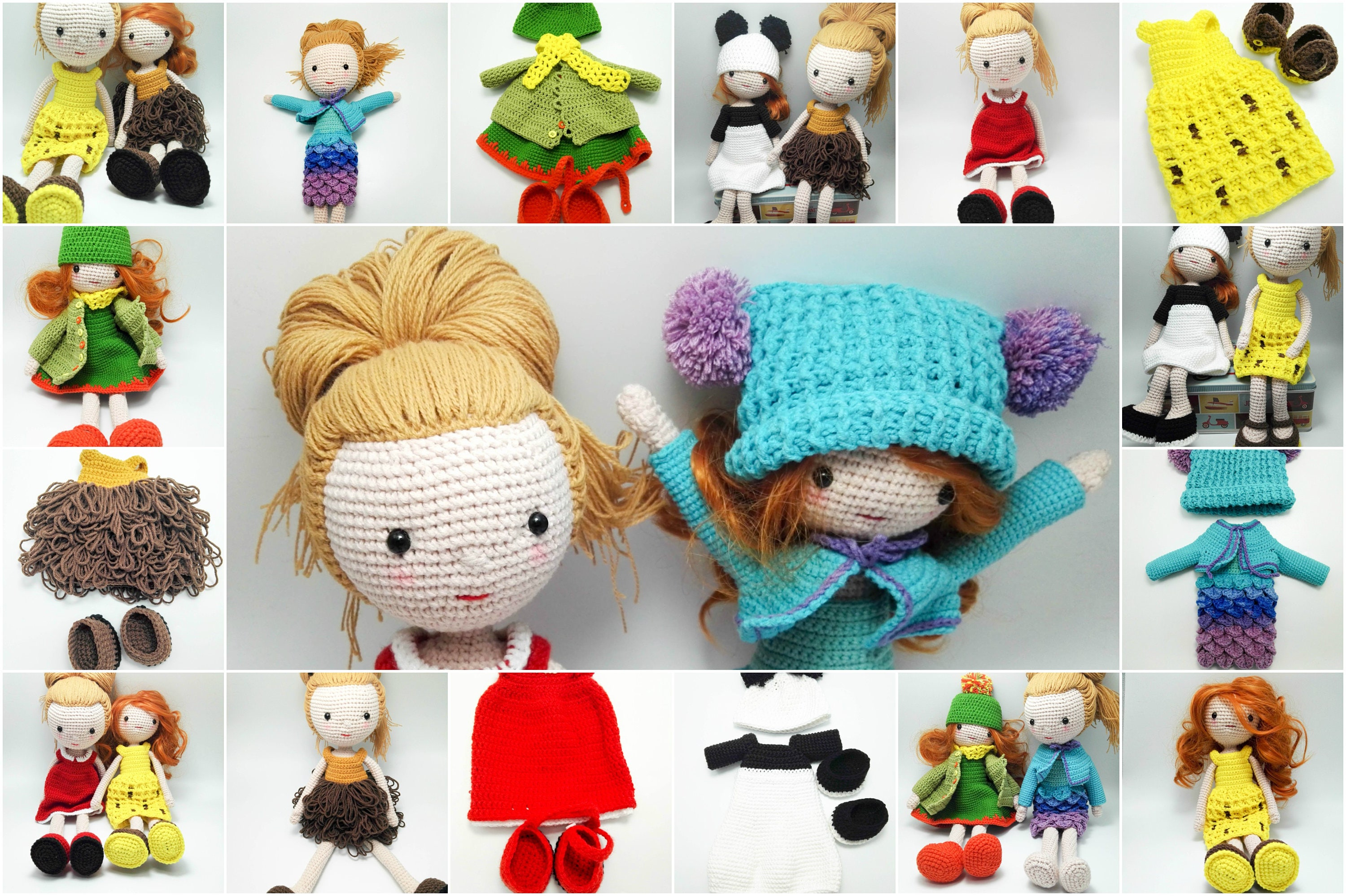 Crochet Dolls - (Clothes, Amigurumi, Tutorial) - Free Crochet ... | 1998x3000