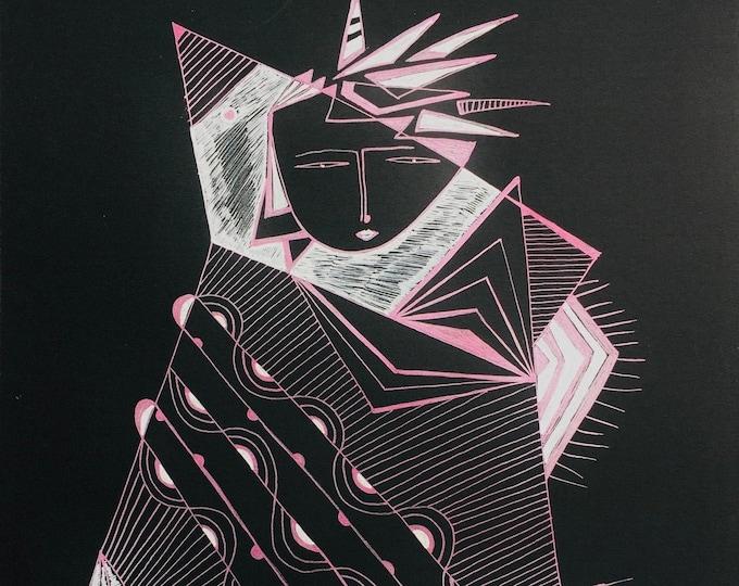 BLISS IN BLACK & Metallic Pink