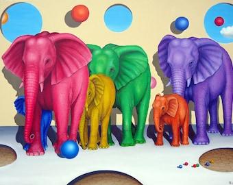 THE COLORFUL ELEPHANTS