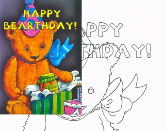 Happy bearthday, Watercolor painting kit
