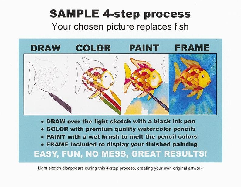 Picture #221 WHOLESALE for shops DIY paint party kits Personalized gift Pre-sketched coloring /& watercolor kits Basketball Coach Rules