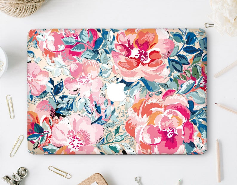 another chance 22e01 6004a Flowers Macbook Air 13 Hard Case Macbook Pro 2019 Hard Case Floral Case  Macbook Hard Case Clear Macbook 12 Case Macbook Retina Case WA2035