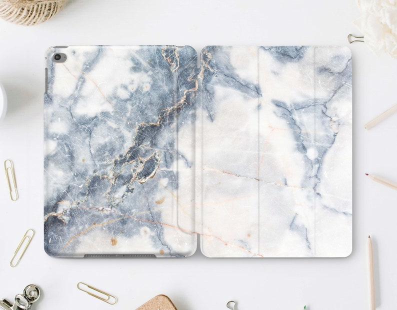 White Rose Gold Marble Smart Cover Case For iPad Pro 9.7 10.5 11 12.9 Air Mini 3