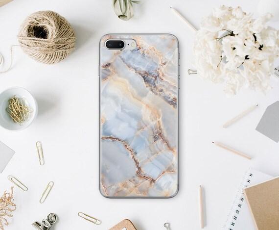 Marbre Pierre iPhone X cas clair iPhone 8 cas Samsung S6 Edge téléphone housse iPhone 6 s Plus marbre coque Galaxy Note 8 cas dur WA5073