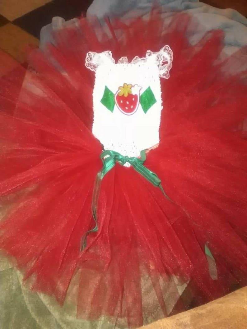 Strawberry ShortCake tutu dress